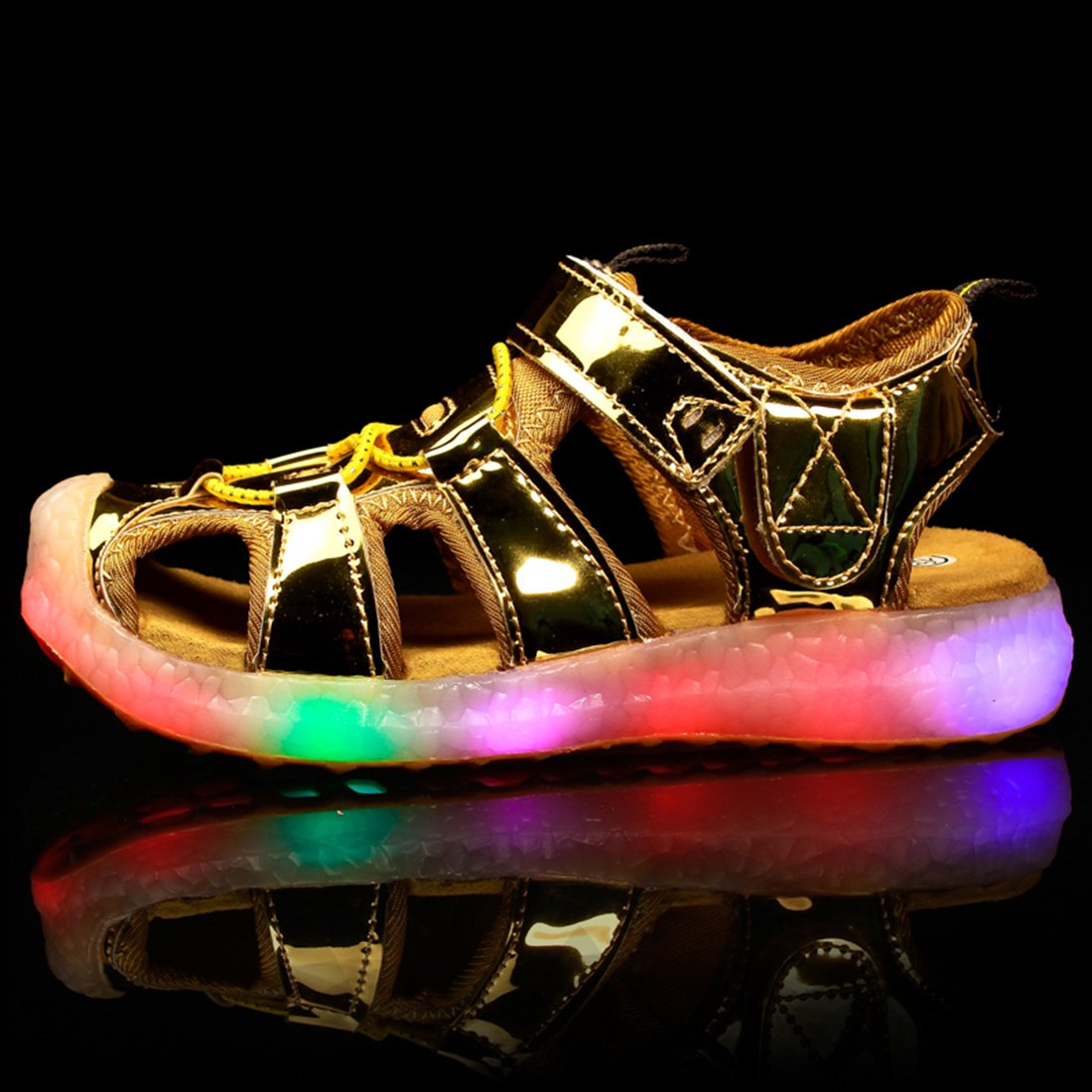 ON Kids Girls Boys USB Charging LED Flashing Summer Beach Shoes Sports Sandals ONUS-PYNSH136