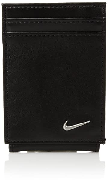Nike Hombres Color Blocked Front Pocket Wallet W/Magnetic Money Clip Billetera - negro -: Amazon.es: Ropa y accesorios