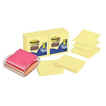 Post-it Super Sticky Z-Notes (Pop-up transparente dispensador de notas