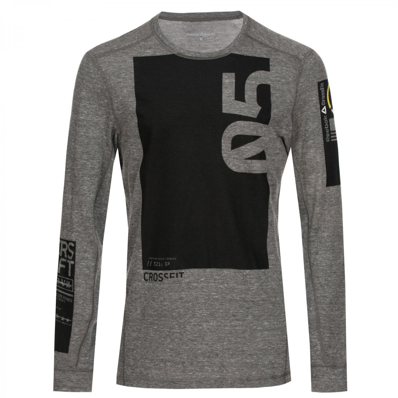 Reebok Triblend Crossfit Triblend Reebok Long Sleeve Shirt - AB4922 617583
