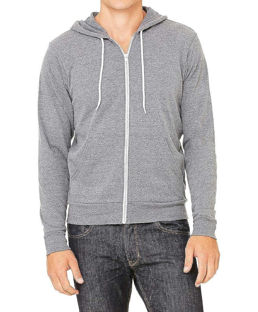 Interstate Apparel Mens Galaxy California Republic C9 Gray Fleece Zipper Hoodie Gray