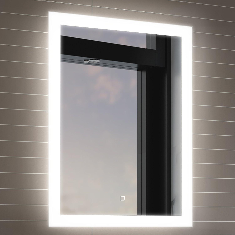 soak Specchio per Bagno con Illuminazione a LED, Sensore Luce e Antiappannamento, 500 x 700 mm