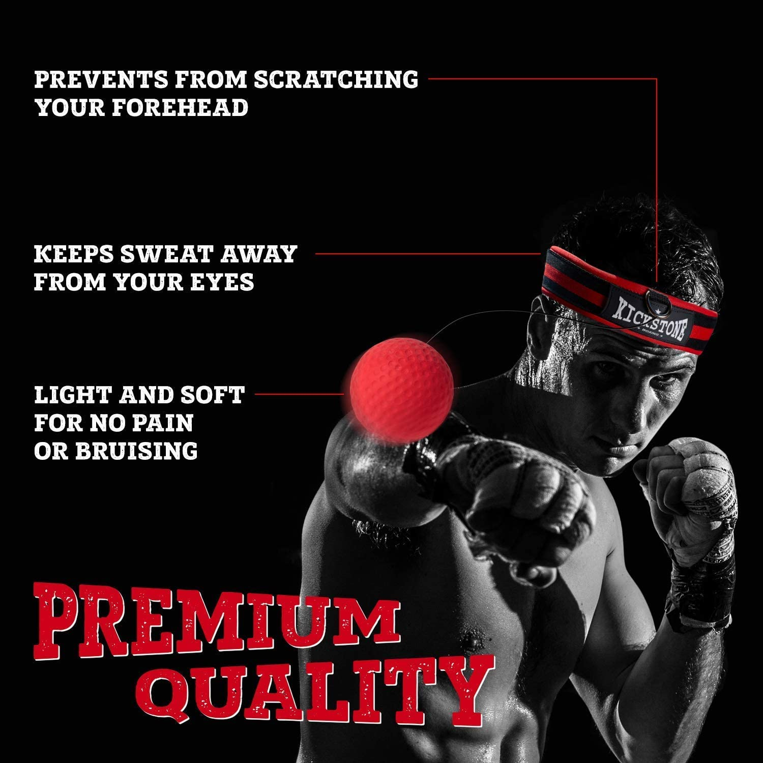Details about  /Ball Boxing Equipment Practical Head‑mounted Fitness 3pcs Durable Ball Set