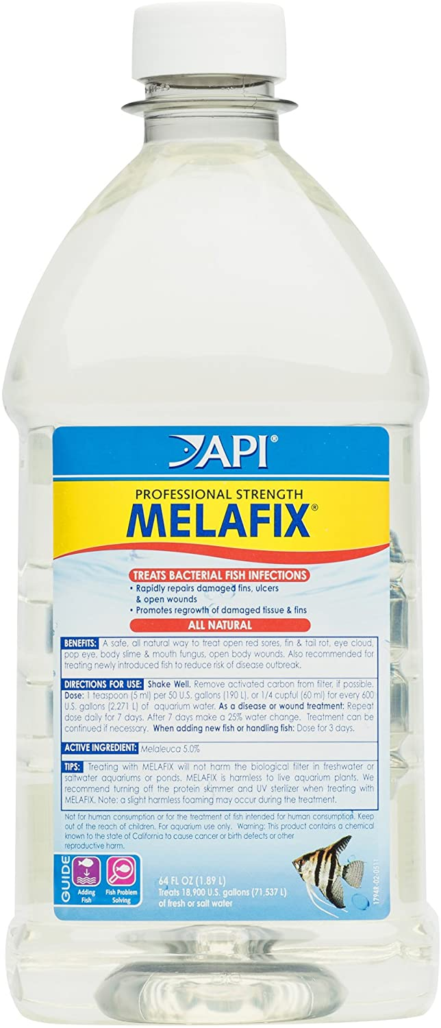 API MELAFIX Freshwater Fish Bacterial Infection Remedy 64-Ounce Bottle
