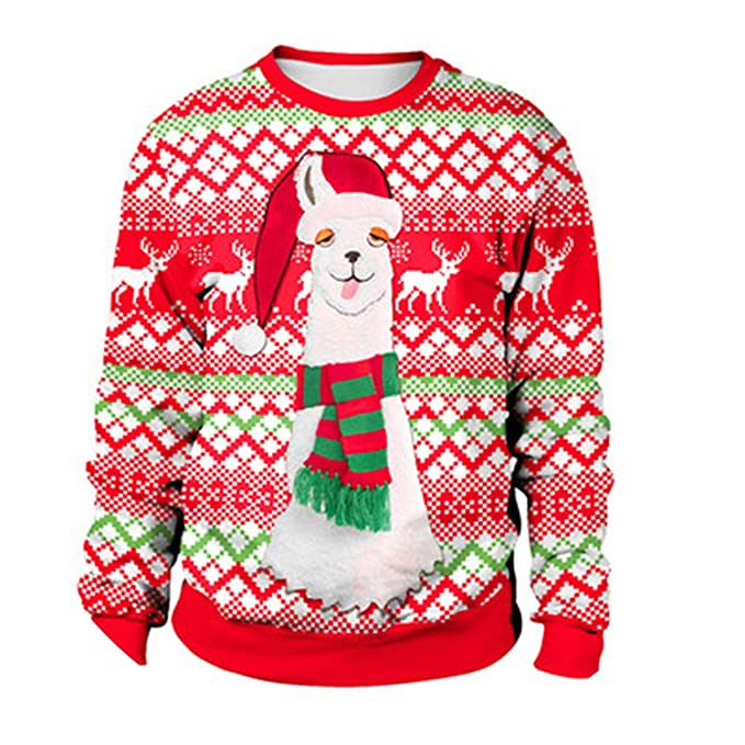 Ugly Christmas Sweaters 2019.Amazon Com 2019 Ugly Christmas Sweater Vacation Santa Elf