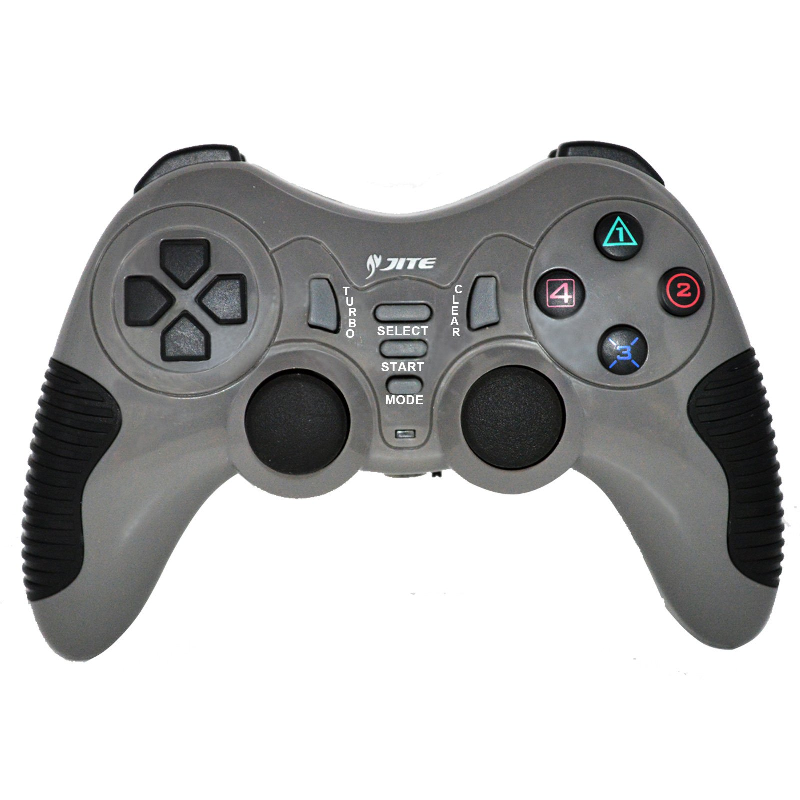 Wireless Pro Game Pad Joystick Remote Game Controller for PC Computer Laptop Notebook PS2 PS3 (Grey)