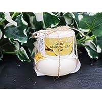 Lemon Shampoo and Conditioner Bar set - Plastic Free - Sulphate Free - - Handmade in Devon UK (SW England)