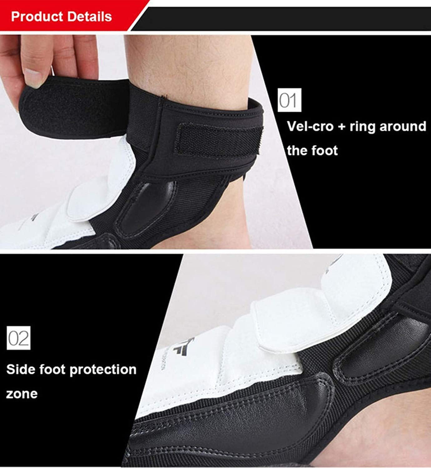 LAAOO Taekwondo Training Boxing Foot Protector Gear WTF Approved Martial Arts Fight Boxing Punch Bag Sparring MMA UFC Thi for Men Women Kids Children : Sports & Outdoors