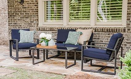 Amazon.com: Juego de conversación para patio. Kit de muebles ...