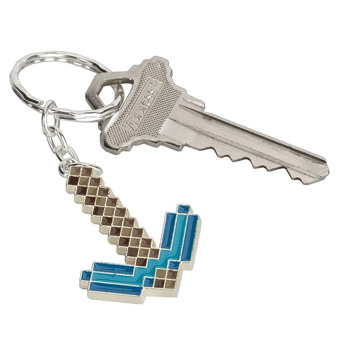 Amazon.com: Minecraft Diamante Pickaxe Llavero, Azul S ...