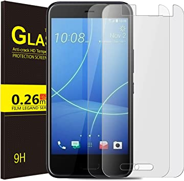 KuGi HTC U11 Life Protector de Pantalla, Cristal Templado Vidrio ...