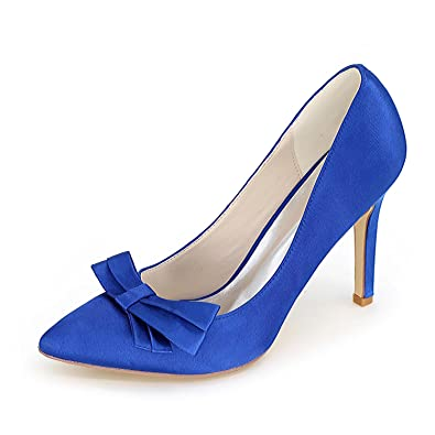 WomenS High Heels Wedding Shoes Comfortable Basic Pump Evening Spring And Summer Satin