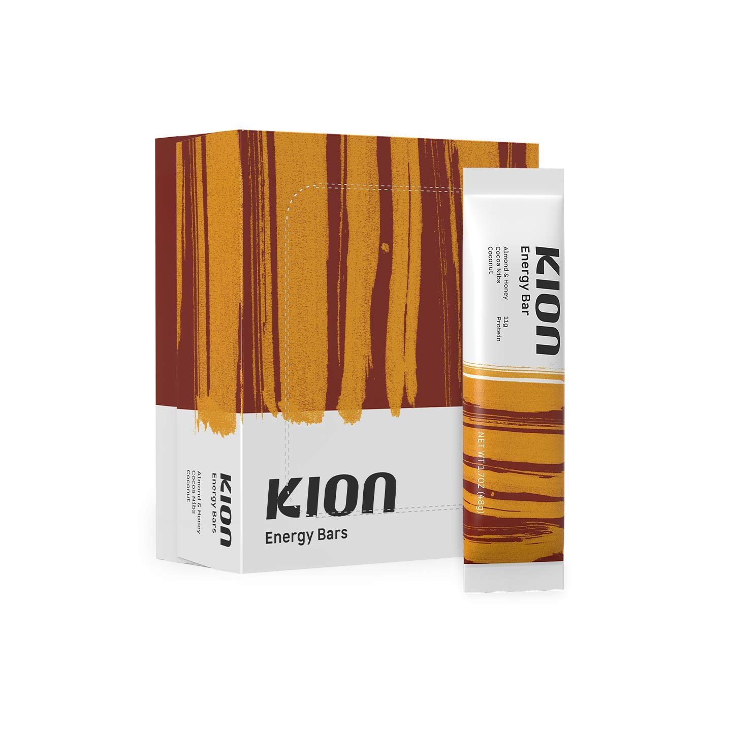 Kion Bar   Satisfying, Real-Food Energy Bar   Stable Energy and No Sugar Crashes   12 Bar Box
