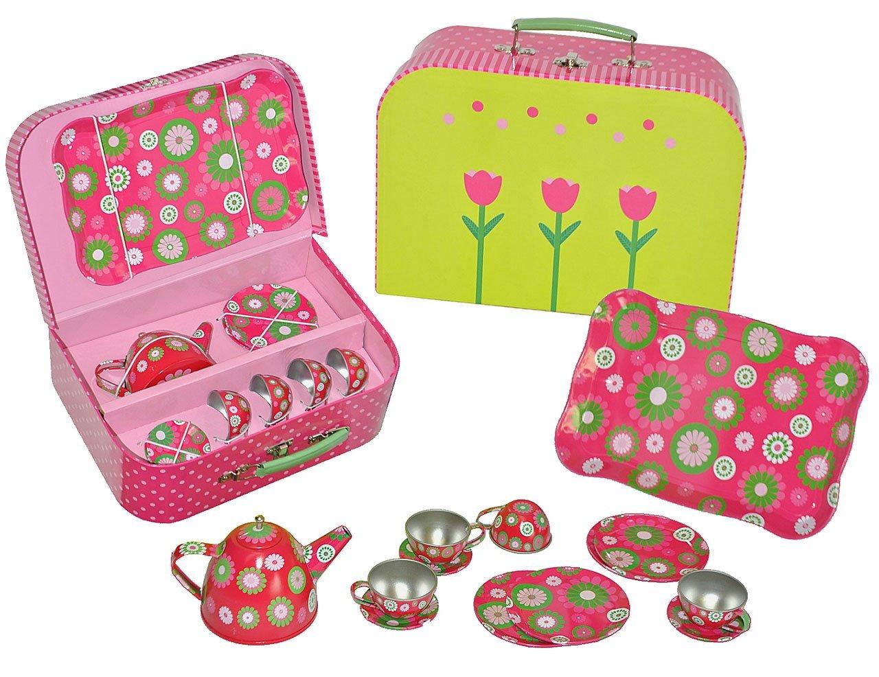 Set   Picknick Koffer Metall Geschirr   Spiel Küche Zubehör Koffer    Picknickkorb Für Kinder: Amazon.de: Spielzeug