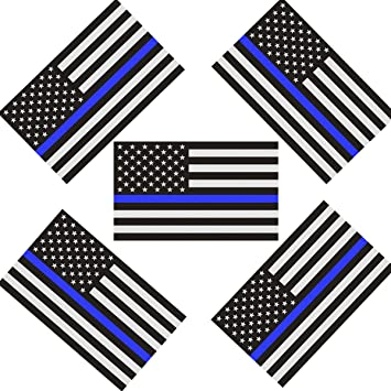 Chengyuan CREATRILL Reflective US Flag Decal Packs with Thin Blue Line for Cars /& Trucks 5 x 3 inch American USA Flag Decal Sticker Honoring Police Law Enforcement 3M Vinyl Window Bumper Tape 3-Pack