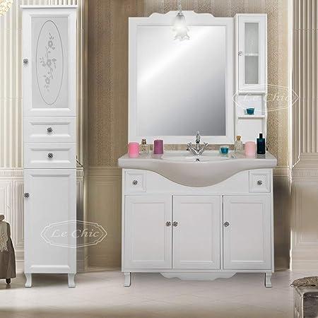 Arredo Bagno Colonna.Arredo Bagno Mobile Con Lavabo Specchio E Colonna Salvaspazio