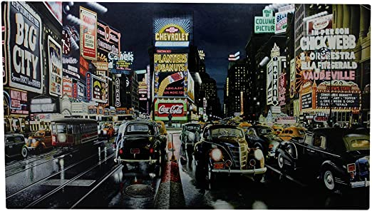 - Light Up Wall Art 3 Pack City Transport LED Canvas Retro Transport Prints