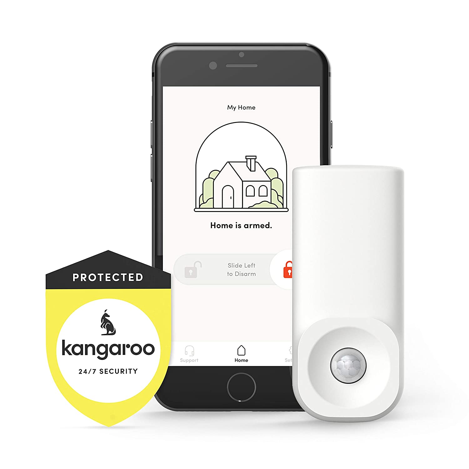 e218274fa05c Amazon.com : Kangaroo Home Security Motion Sensor (1 Pack, Free Plan) :  Camera & Photo