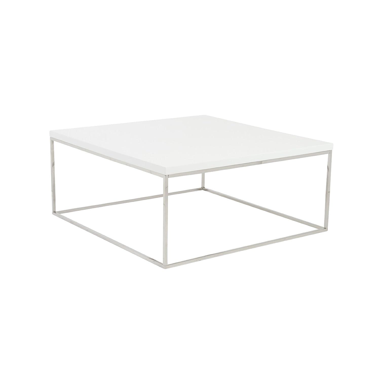 Amazon Euro Style Teresa Square Lacquer Top Coffee Table