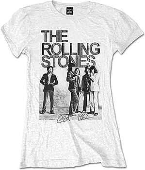 Ladies The Rolling Stones 1962 Mick Jagger Oficial Camiseta Mujeres señoras (Small): Amazon.es: Ropa y accesorios