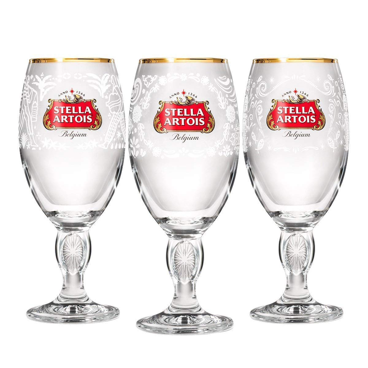 Stella Artois Limited-Edition Chalice Box-Set – Mexico, India, and Philippines, 33cl (Gift Set: India, Philippines, Mexico (8 Pack))