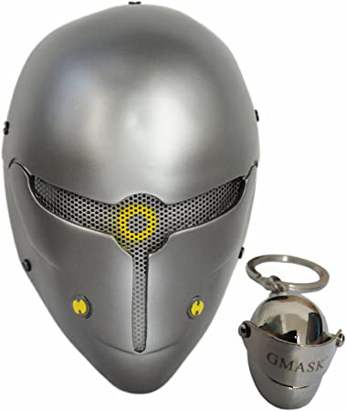 Gmask Gray Fox Robot Airsoft Paintball Halloween Party Cosplay Mask Costume