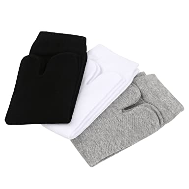 PIXNOR - 3pares de calcetines de algodón elástico, separaci&oacute