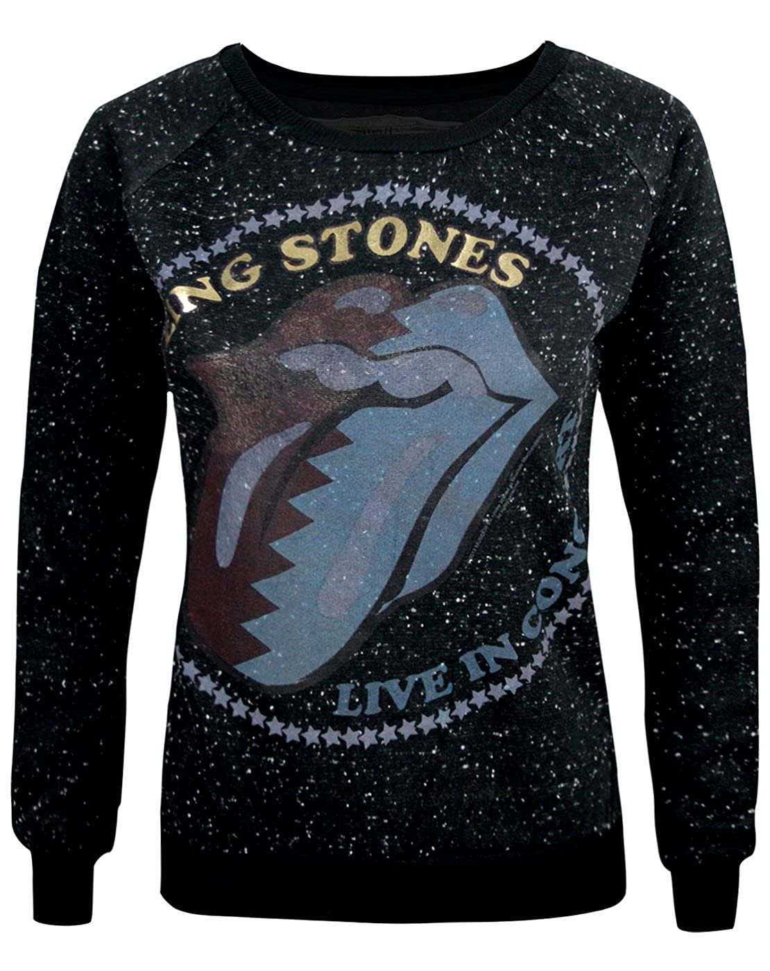 Amplified Rolling Stones Zig Zag Lick Women's Sweater Amplified Clothing