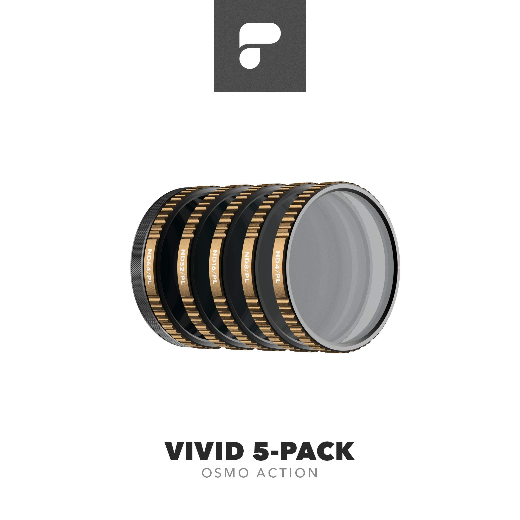 PolarPro Vivid Filter 5-Pack for DJI Osmo Action (Magnetic HotSwap Filter System) by PolarPro
