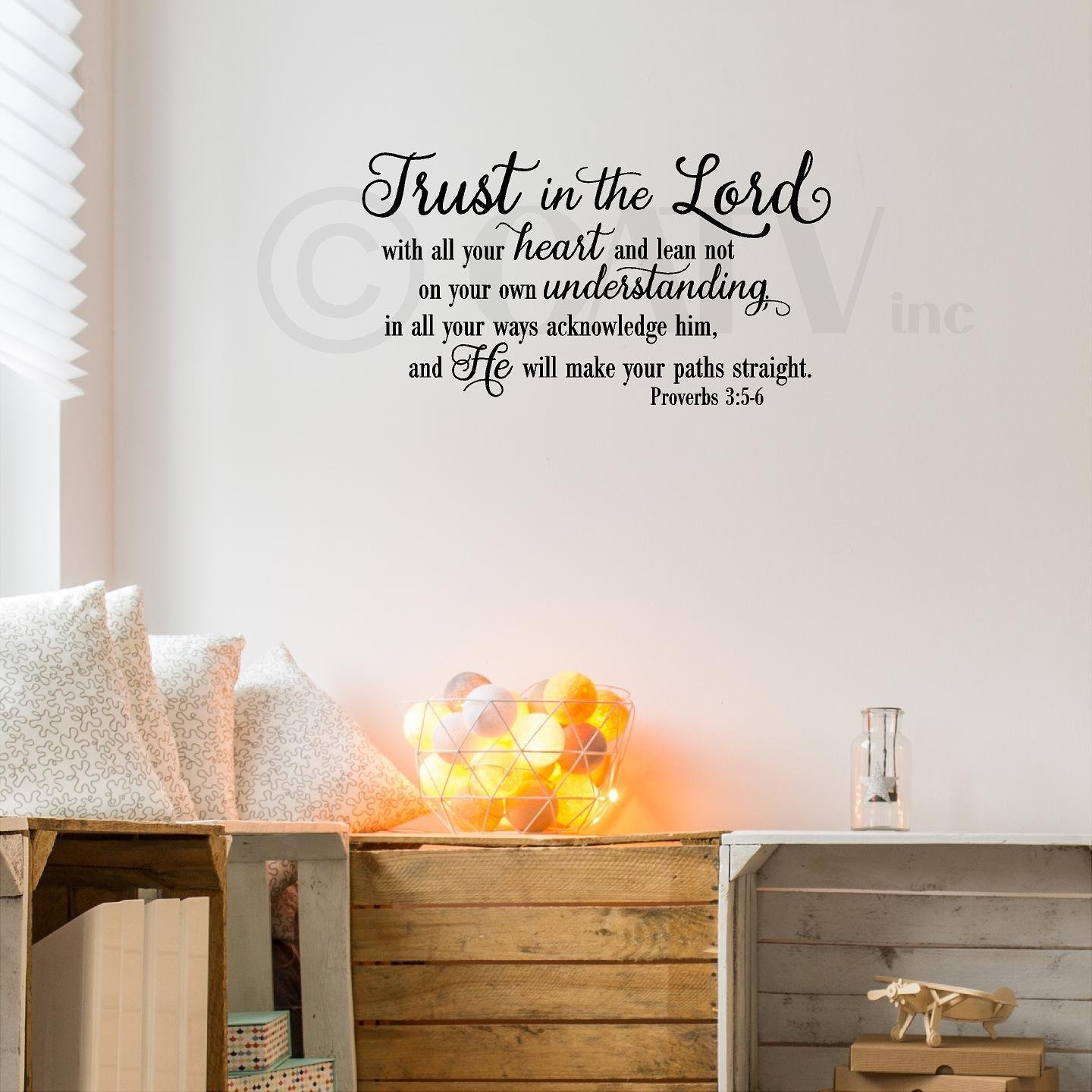 Amazon Trust In The Lord With All Your Heartoverbs 35 6