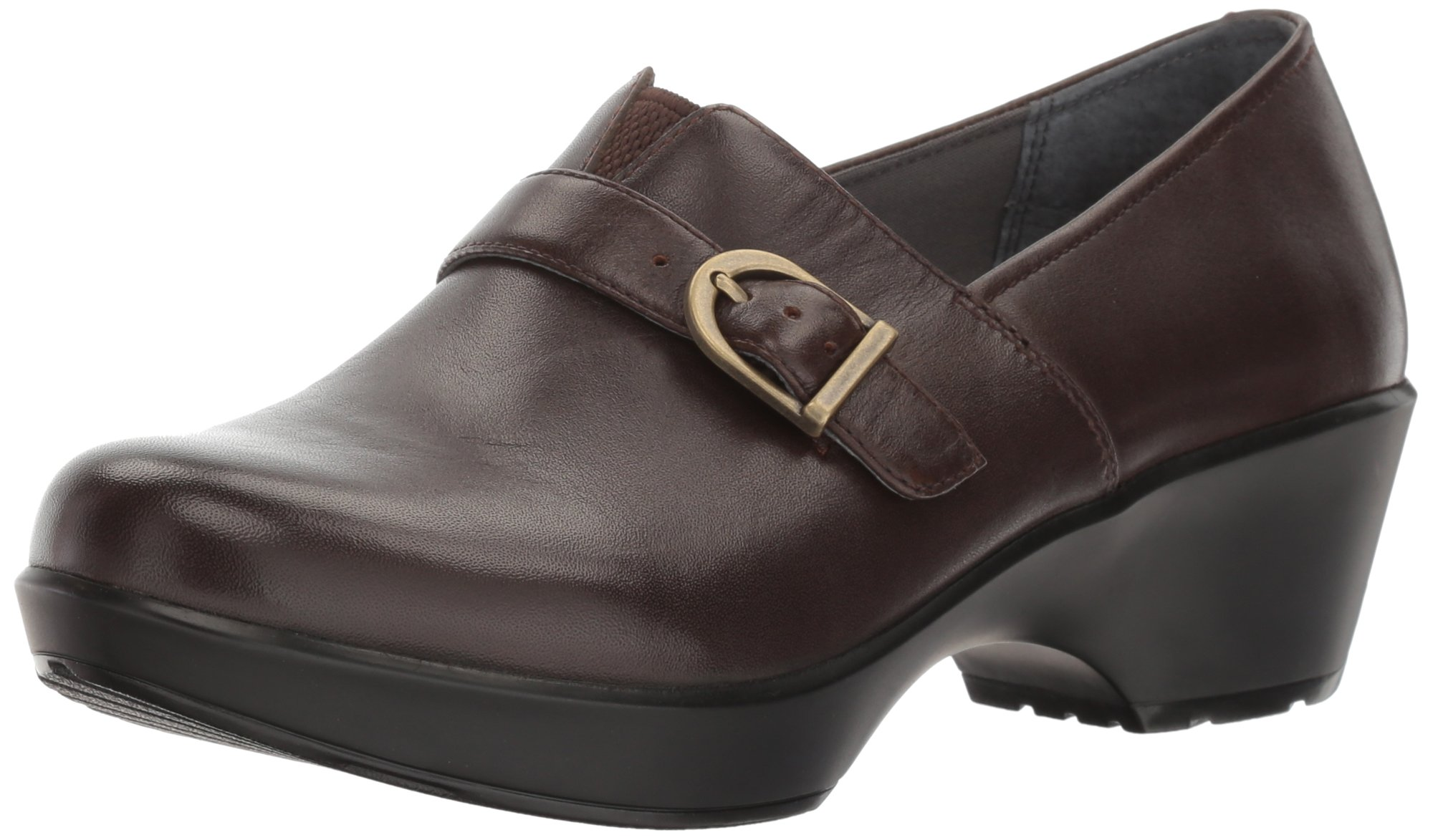 Dansko Women's Jane Clog, Chocolate Burnished Full Grain, 37 EU/6.5-7 M US