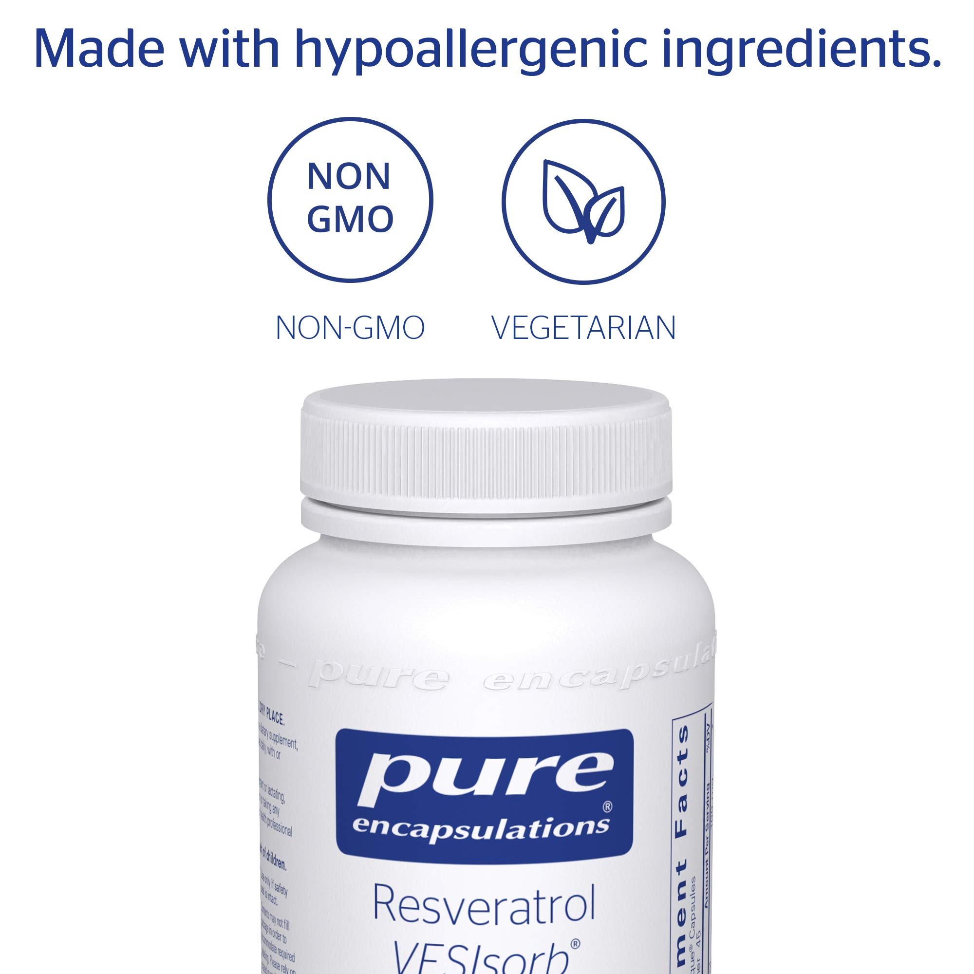 Pure Encapsulations - Resveratrol VESIsorb - Hypoallergenic Support for Cellular, Cardiovascular, and Neurocognitive Health* - 90 Caplique Capsules by Pure Encapsulations (Image #4)