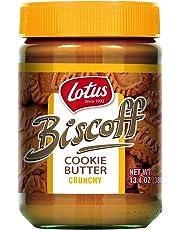 Lotus Biscoff Non GMO Cookie Butter Spread, Crunchy 13.4oz (1 Count)