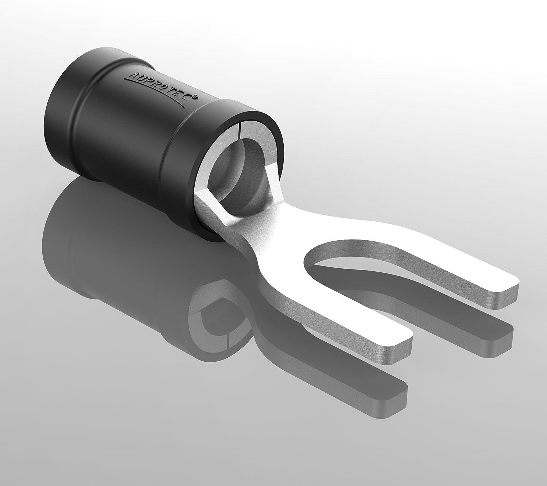 AUPROTEC Fourche 0,5-6,0 mm/² /Ø du trou M3 M8 En partie isol/é PVC SV Connecteur de c/âble en cuivre /étam/é