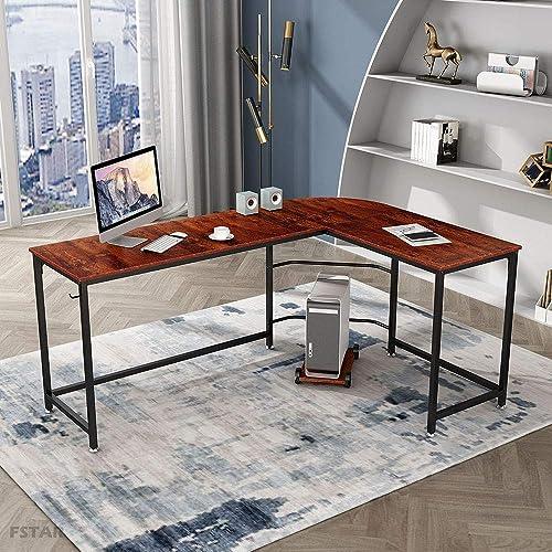 FSTAR 66″ L-Shaped Computer Desk Office Desk