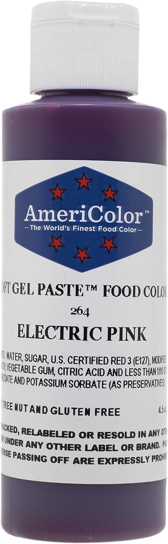 Americolor Soft Gel Paste Food Color, 4.5-Ounce, Electric Pink