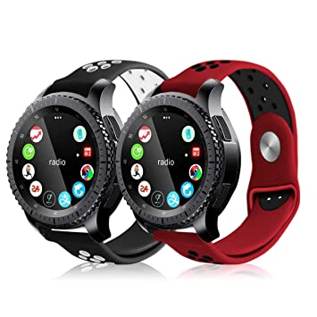 Soulen Bands Compatible Gear S3 Classic/Gear S3 Frontier/Galaxy Watch 46mm, 22mm Soft Replacement Sport Bands with Multiple Air Holes