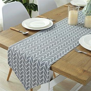 Amazon Com Geometric Table Runner Modern Minimalist Linen