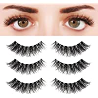 1a1223453ef BEPHOLAN 3 Pairs Multi-layered Faux Mink Lashes| Fluffy Volume Lashes|  Natural Look