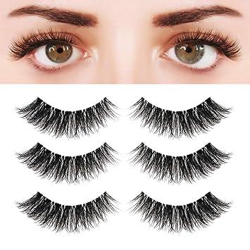 912a8e7c9e1 BEPHOLAN 3 Pairs 5D Multi-layered Faux Mink Lashes| Fluffy Volume False  Eyelashes