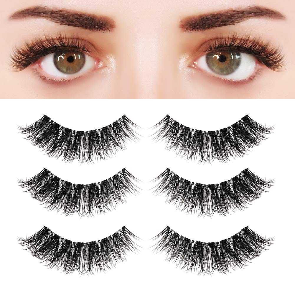 Amazon Bepholan 3 Pairs Multi Layered Faux Mink Lashes Fluffy