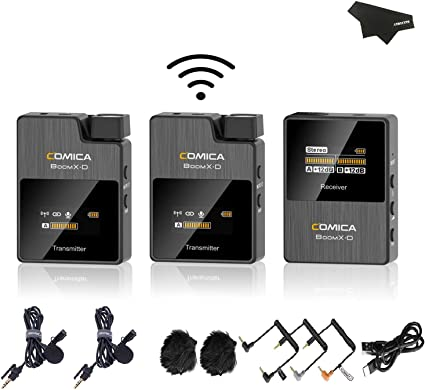 Amazon.com: Comica Boom X-D 2.4G Digital Wireless Microphone Transmitter & Reciever Lavalier Mini Display for Vlogging Interview,YouTube,Facebook Live Outdoor: Musical Instruments