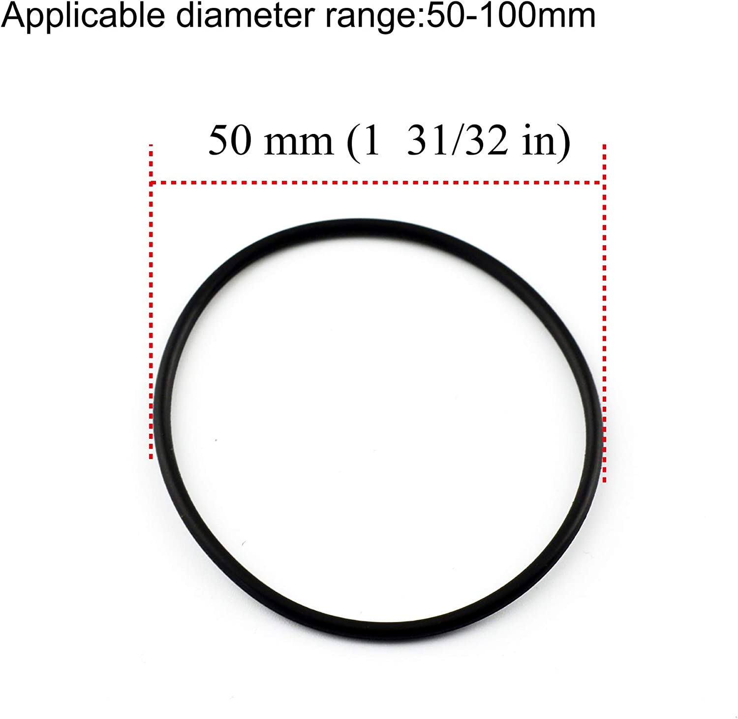 4pcs 68mm Black Wheel Center Cap Rubber O-Rings with 50-100mm Clip to Clip Diameter Universal Wheel Center Caps for #Rays Volk TE37 654F RS6 XXR 527 531 and 4pcs 50mm 1.97in 62mm 2.67in 2.42in