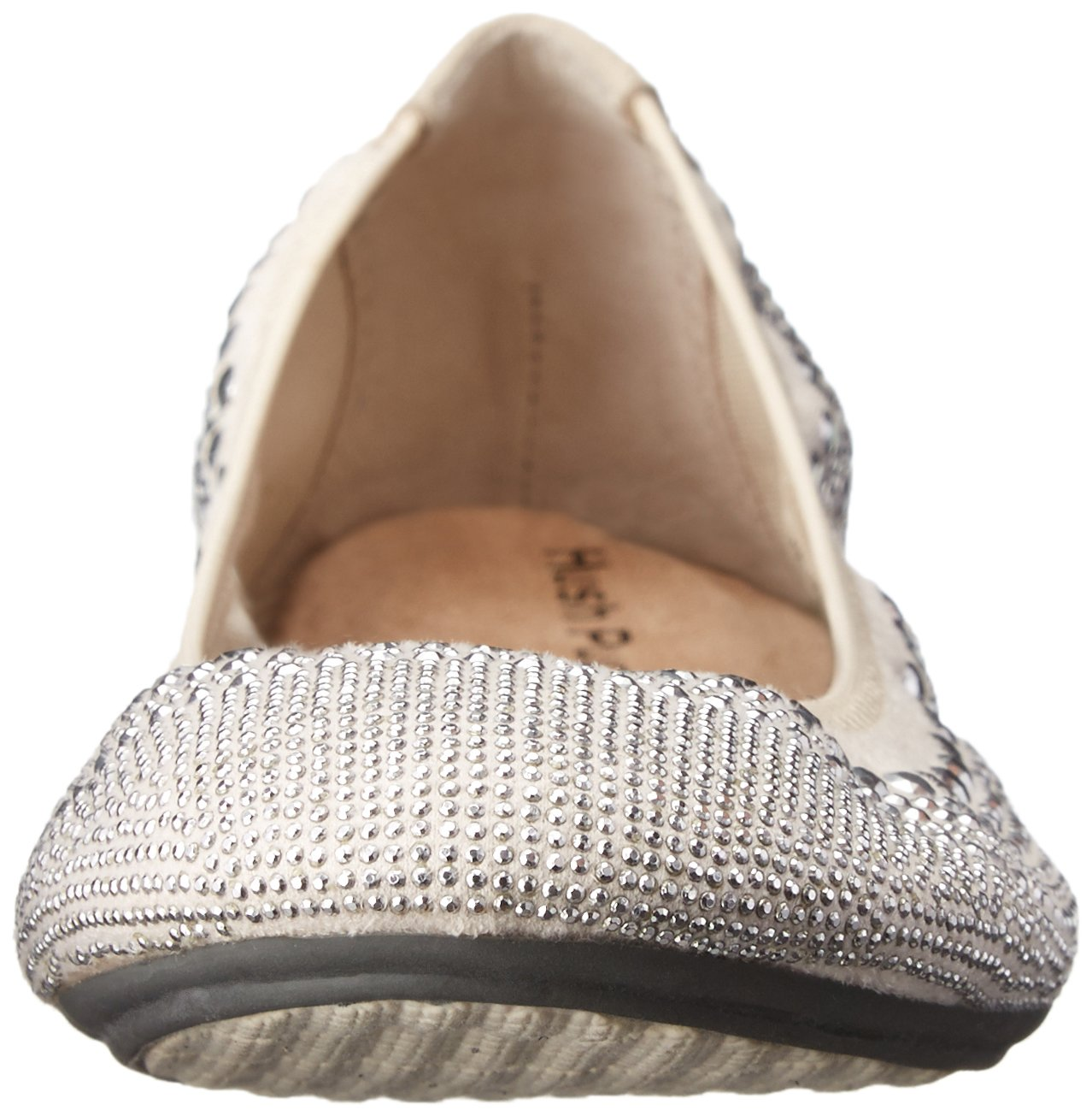 Hush Puppies Women's Chaste Ballet Flat B005B4YBZA 9 XW US|Silver Stud