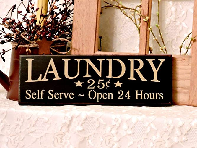 Amazon.com: Laundry Country Sign, Laundry Room Sign, Country Decor ...
