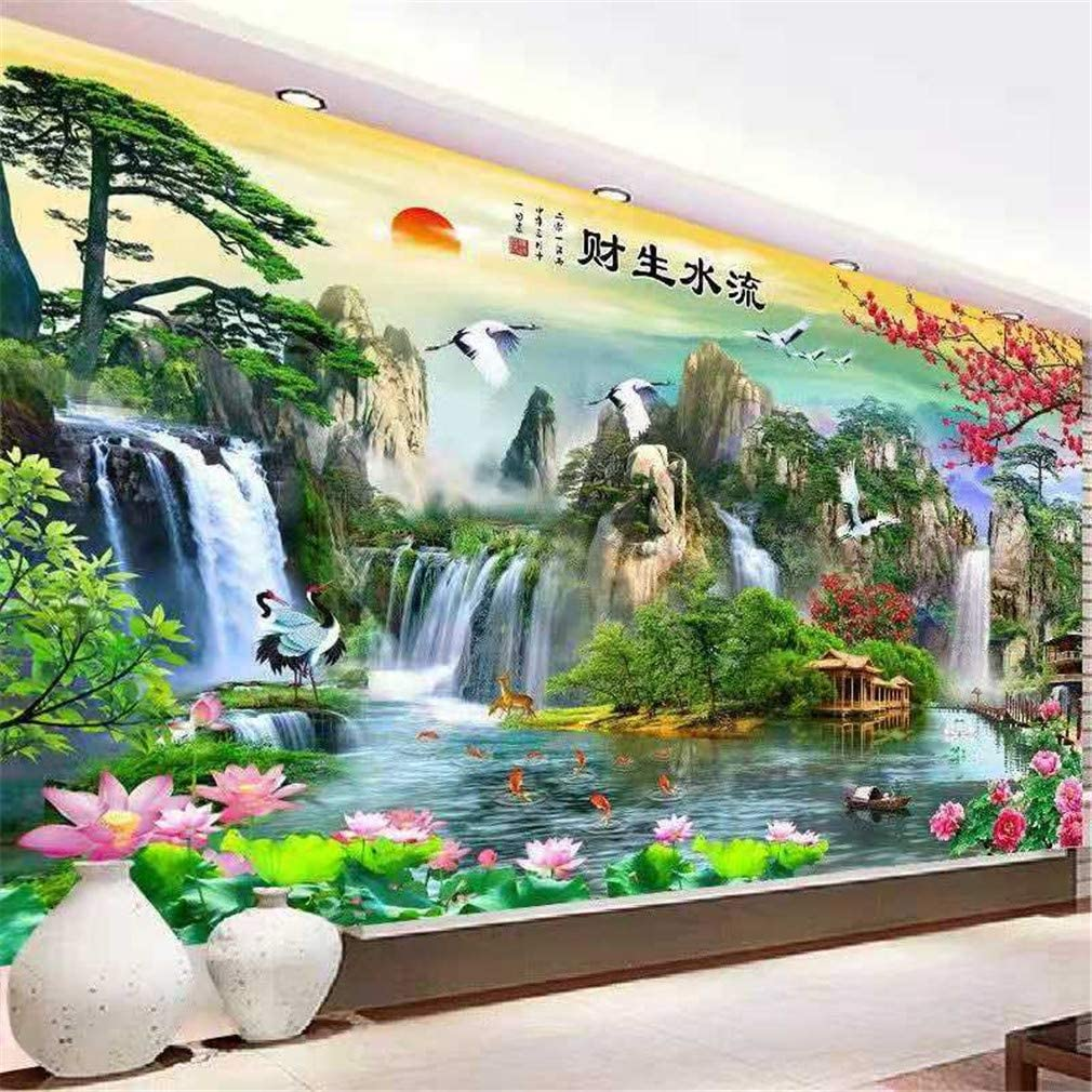 5D Full Drill Diamond Painting Landscape Embroidery Cross Crafts DIY Mural 25*35