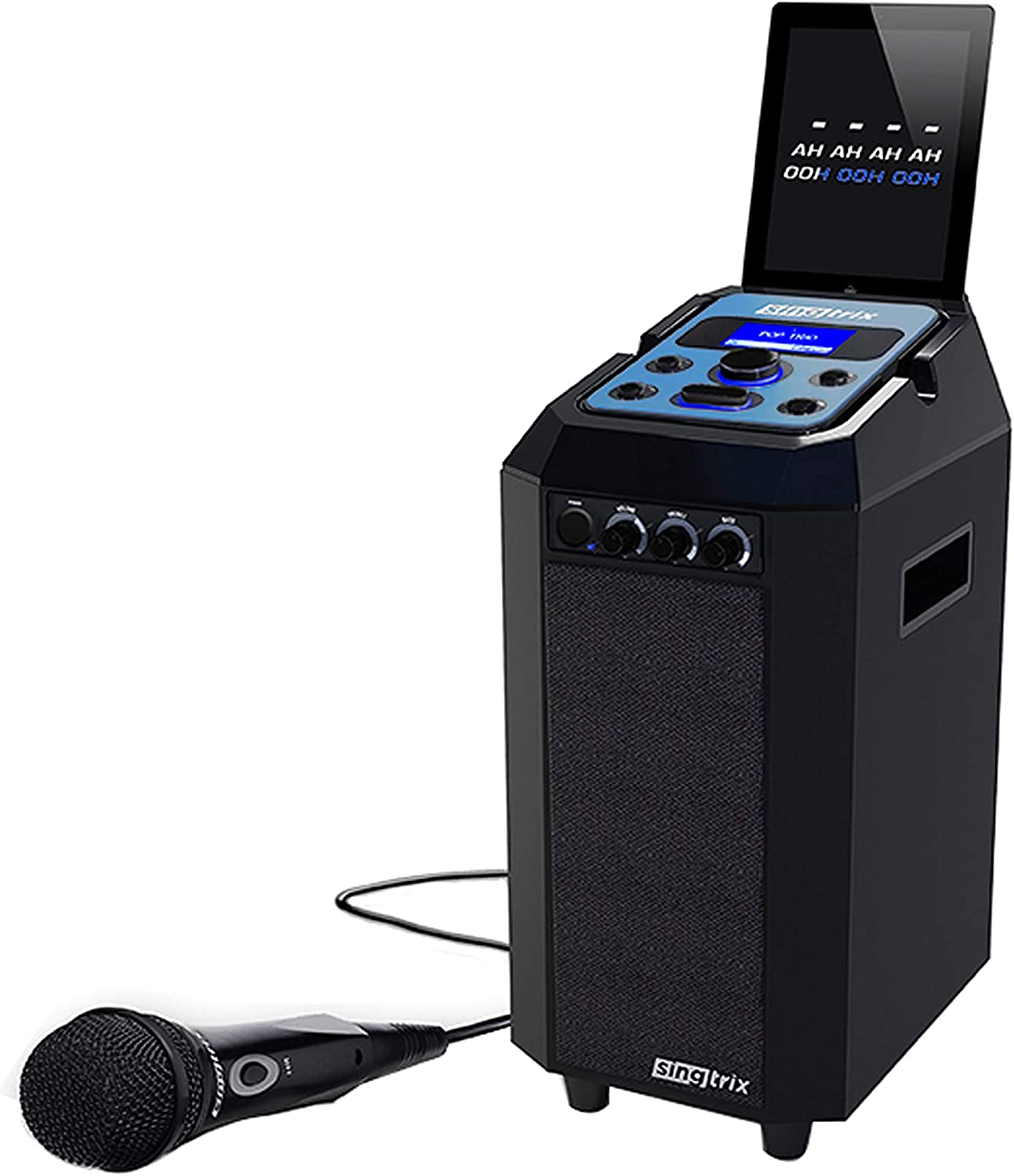 Singtrix Family Party Bundle Second Edition Karaoke Machine for Kids and Adults as seen on Shark Tank – Includes Microphone, Speaker and Pro Voice Tuning Technology and Effects, Black (SGTXCOMBO2)