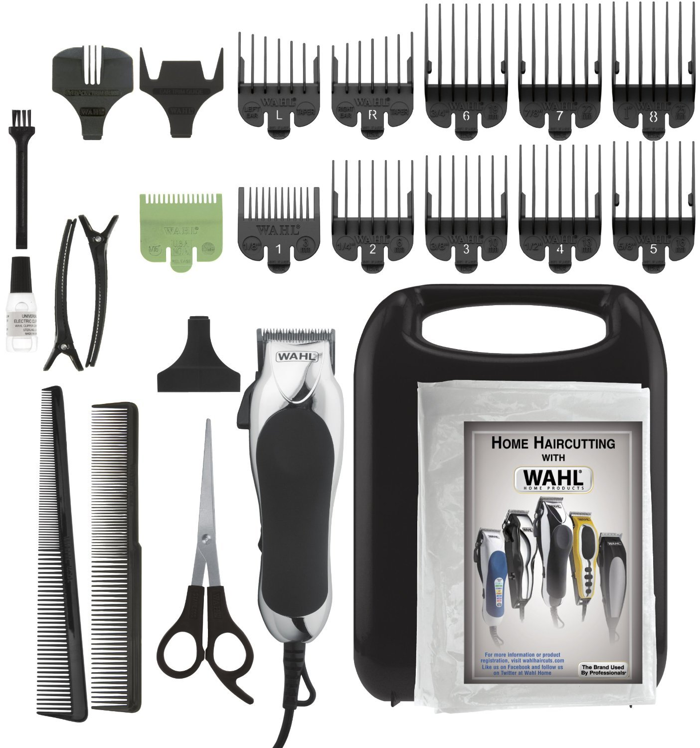 Wahl Chrome Pro 24-Piece Haircut Kit by Wahl