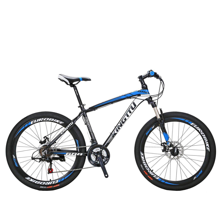 Extrbici 688 マウンテンバイク MTB 自転車本体 シマノ21段変速 アルミフレーム タイヤ26インチ ディスクブレーキ サスペンション 軽量 通勤通学用 中古品 B07CZXWVPZ ブルー ブルー