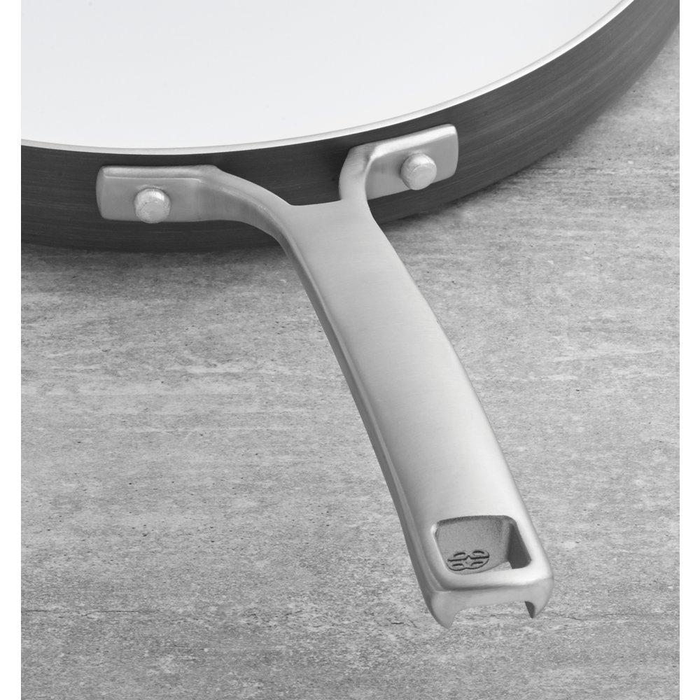 Calphalon Calphalon Classic Ceramic Nonstick 12-Inch Round Griddle Small Grey//White